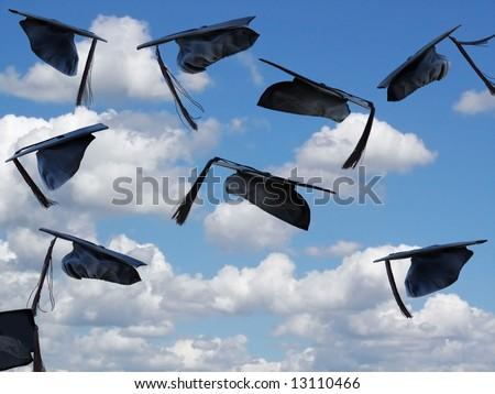 graduation hats airborne