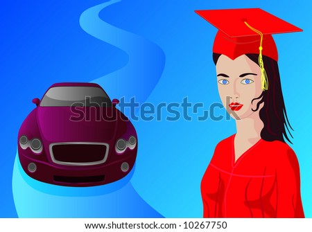 graduation luxury gift for young college girl (success concept)