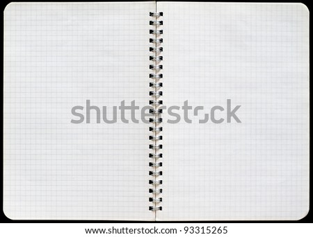 Graf notepad with a spiral binding