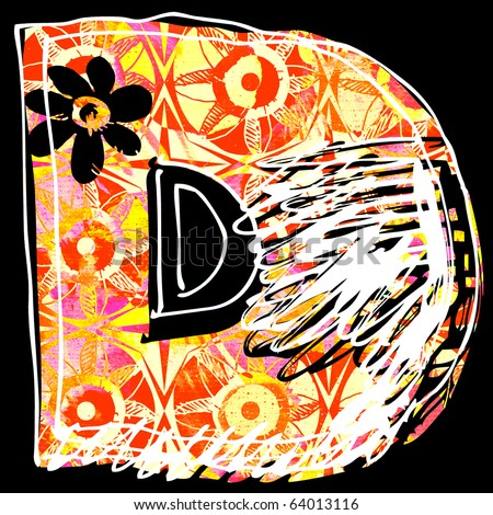 Beauty Graffiti Letter D
