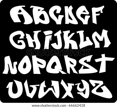 graffiti font. graffiti fonts a-z.