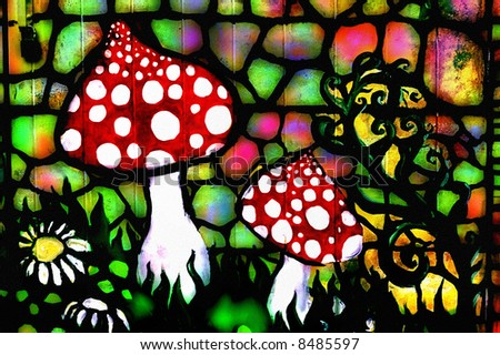 Graffiti on Graffiti Image Of Wild Toadstools Stock Photo 8485597   Shutterstock