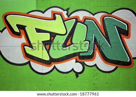 Graffiti in the streets of Amsterdam Netherlands