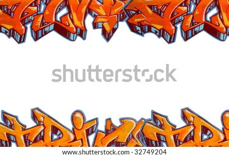 Graffiti isolated background