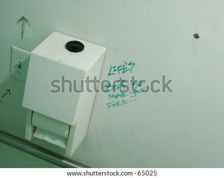 Graffiti on Bathroom Wall