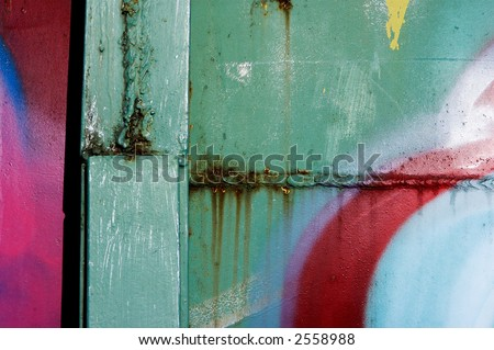 Graffiti on old metal