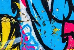 Graffiti on the wall. street art texture