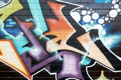 Graffiti on wall, typical urban scene