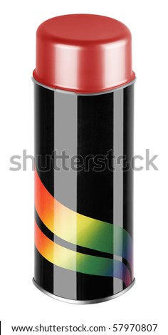 graffiti spray can isolated on white background