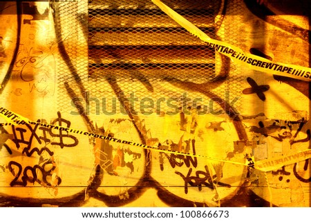 Graffiti wall in Brooklyn, New York City
