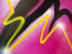 Graffiti yellow line