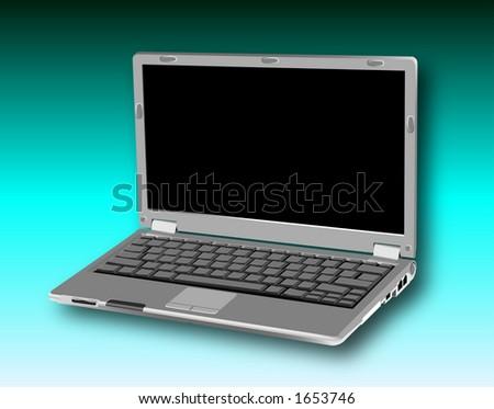 grafico della trama che descrive un personal computer deltaccuino del laptop - stock photo
