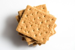 Graham cracker photo shot close up with a macro lens and a white background
