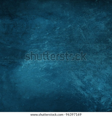 Grain blue paint wall background or texture #96397169