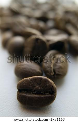 grain coffee in macro