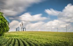 Grain Elevator on Hill