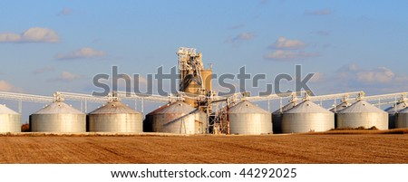 grain elevators or silos