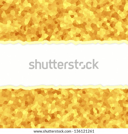grain ripped paper on white paper background