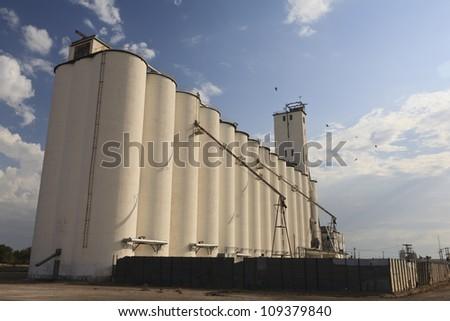 Grain silo in the morning located in Oklahoma, USA.