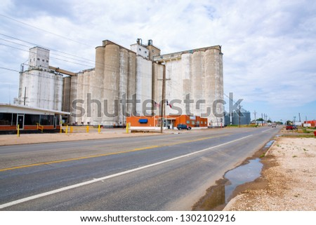 Grain storage in Dimmit, Texas, USA, 08-10-2018 #1302102916