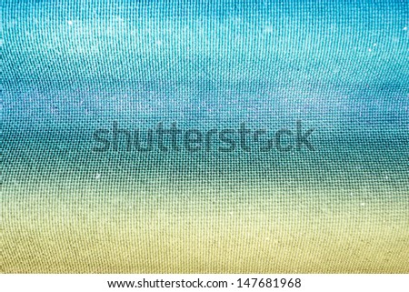 Grain wave aqua green and yellow paint wall background or texture