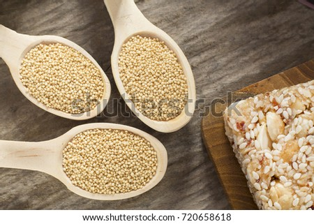 Grains and amaranth bar (Amaranthus) #720658618