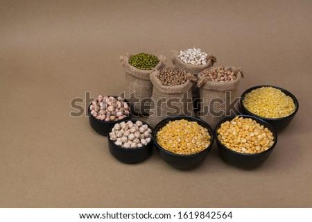 Photo of  Grains in gunny bag / Various grains and pulses in gunny bag - Pulses and Grains