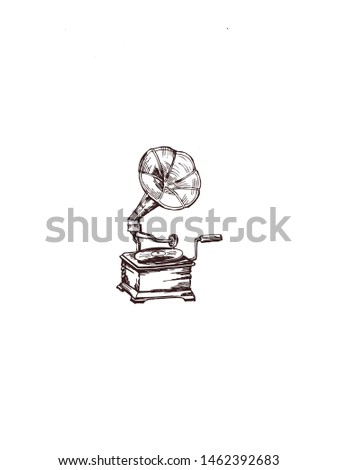 Gramofone Art image stock photography Stock fotó ©
