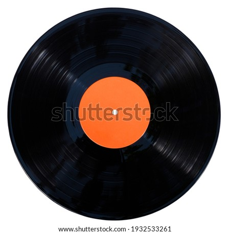 Gramophone vinyl record isolated at the white background with clipping path Stockfoto ©