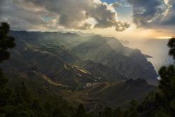 Gran Canaria coast near Agaete in Canary Islands.