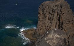Gran Canaria, landscape of steep eroded north west coast in Galdar and Agaete municipalities, hike between  villages Sardina del Norte and Puerto de Las Nieves