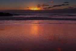 Gran Canaria,sunset in  village Sardina del Norte