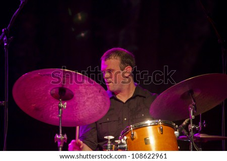 GRANADA SPAIN JULY 21 Johnathan Blake drum at the XXV Jazz Festival of Almunecar on July 21 2012 in Granada Spain