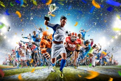Grand arena sports collage soccer basketball hockey baseball american football etc