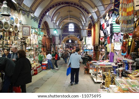 Grand Bazaar in Istanbul, Turkey