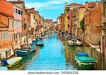 Grand Canal and Basilica Santa Maria della Salute in sunny day. Venice, Italy #345061238