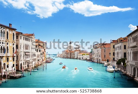 Grand Canal and Basilica Santa Maria della Salute, Venice, Italy #525738868