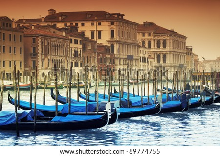 Grand Canal and gondolas #89774755