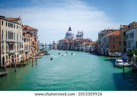 grand canal cityscape in Venice #1053309926