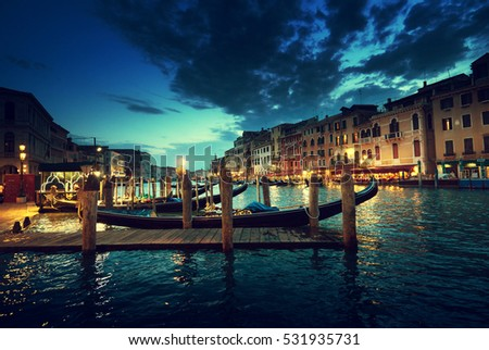 Grand Canal in sunset time, Venice, Italy #531935731