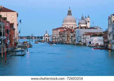 Grand Canal in the evening, Venice Italy
