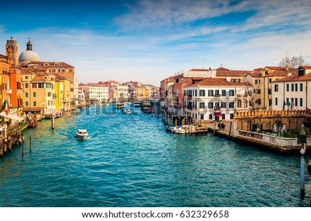 Grand Canal in Venice, Italy.  #632329658