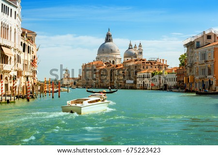 Grand canal  in Venice, Italy. #675223423