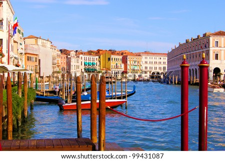 Grand Canal of Venice at dusk from the Cannaregio neighborhood