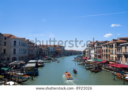 Grand canal of Venice, Italy - stock photo