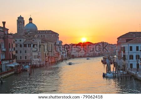Grand canal Venice - sunrise