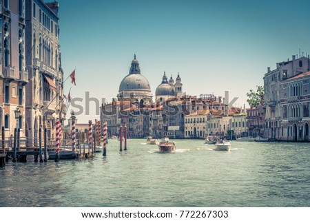 grand canal with santa maria...