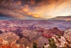 Grand Canyon, Arizona, USA at dawn from the south rim.