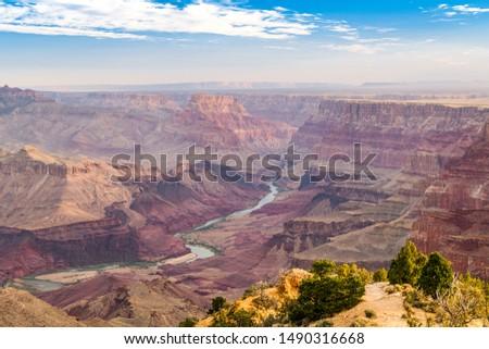 Grand Canyon, Arizona, USA with the Colorado River below. #1490316668