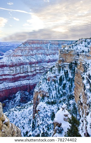 Grand Canyon National Park in winter, Arizona, USA